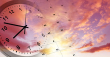Clock And Calendar In Sky