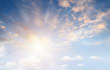 Sun Rays In Sky