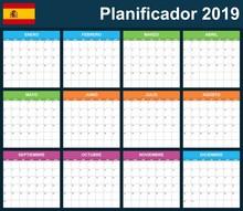 Spanish Planner Blank For 2019...