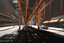 Road Under The Chicago Loop, Illinois, United States