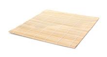 Sushi Mat Made Of Bamboo On White Background