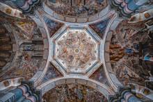 Beautiful Interior Of The Sanctuary Of Atotonilco In Guanajuato, Mexico