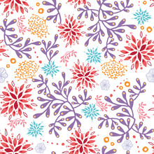 Colorful Underwater Seaweed Seamless Pattern. Great For Marine Inspired Fabric, Invitations, Wallpaper, Giftwrap Projects.