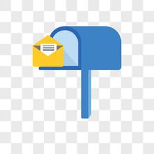 Mailbox Vector Icon Isolated O...