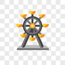 Ferris Wheel Vector Icon Isolated On Transparent Background, Ferris Wheel Logo Design