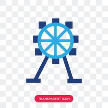 Ferris Wheel Vector Icon Isola...