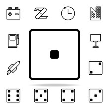 Playing Zary One Icon. Web Icons Universal Set For Web And Mobile
