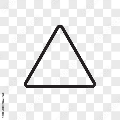 Triangle vector icon isolated on transparent background, Triangle logo design Fototapet