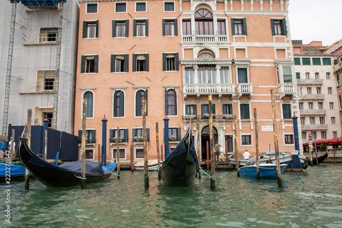 Staande foto Venetie Gondolas in Venice Italy