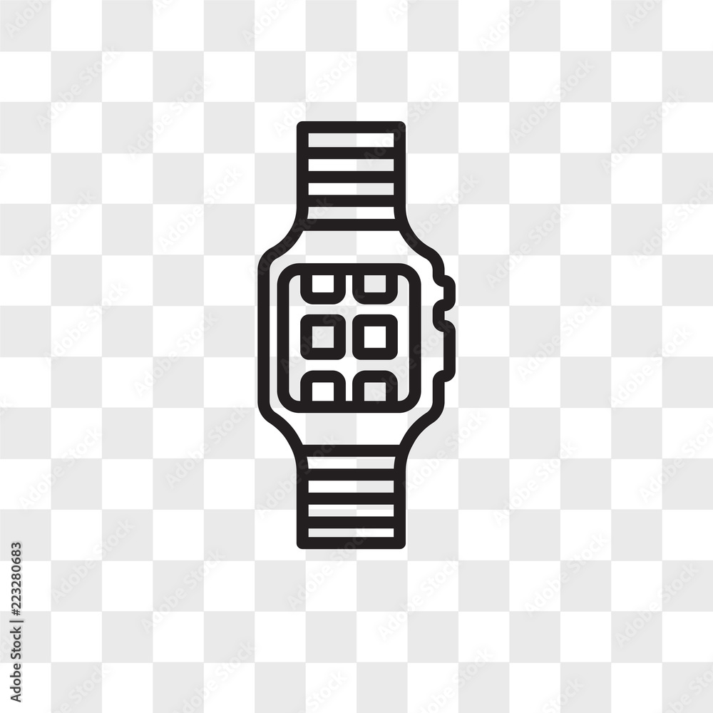 Fototapety, obrazy: Smartwatch vector icon isolated on transparent background, Smartwatch logo design