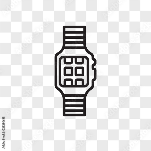 Smartwatch vector icon isolated on transparent background, Smartwatch logo design