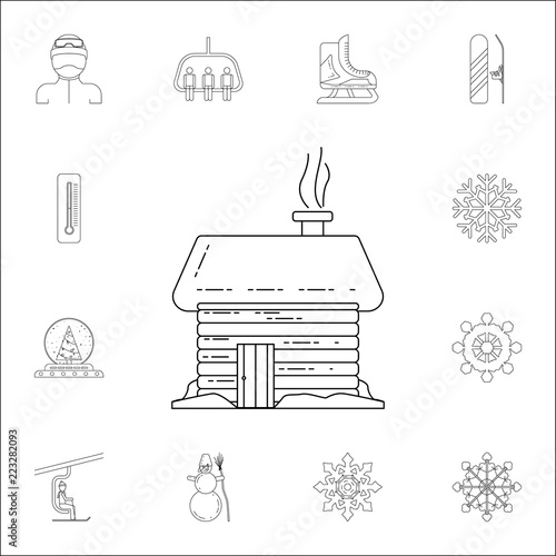 wooden house icon winter icons universal set for web and mobile rh stock adobe com