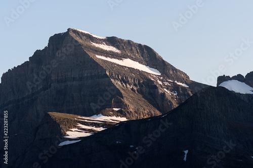 Fotografie, Obraz  Mountain peaks at sunset in Glacier National Park, Montana