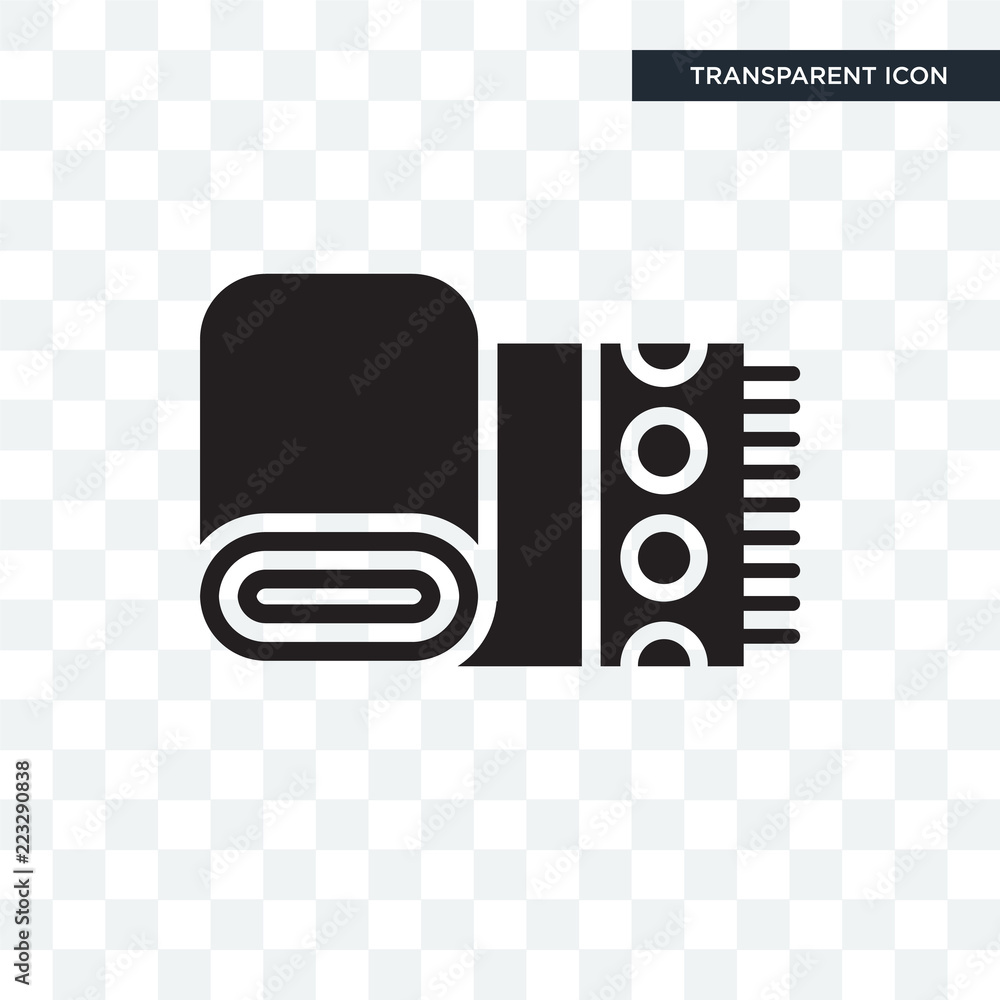 Cloth Towel vector icon isolated on transparent background, Cloth Towel logo design