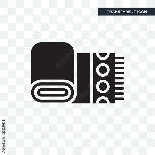 Fototapety, obrazy: Cloth Towel vector icon isolated on transparent background, Cloth Towel logo design