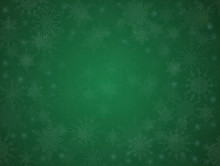 Green Banner Snowflakes. Christmas Or New Year.