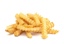Crinkle Fries Isolated On A Wh...
