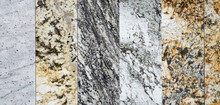 Close Up On Granite Sample In Store As Background