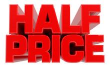 3D HALF PRICE Word On White Ba...