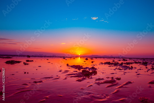 Foto op Plexiglas Crimson Sunset at Koh Yao Noi Beach, Thailand