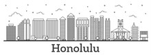 Outline Honolulu Hawaii City S...