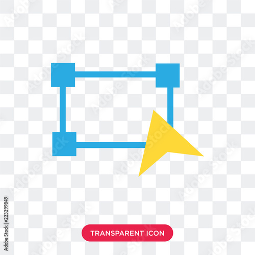 Fototapeta Transform vector icon isolated on transparent background, Transform logo design obraz na płótnie