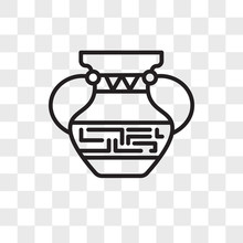 Ancient Jar Vector Icon Isolated On Transparent Background, Ancient Jar Logo Design