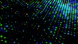 Colorful abstract background.Shiny Circles. Colorful lights blurred.Abstract glowing circles.Motion Graphic Abstract Circle Dots.Colorful Abstract Dots Circles
