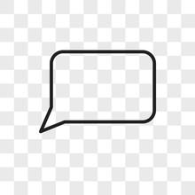Speech Bubble Vector Icon Isolated On Transparent Background, Speech Bubble Logo Design