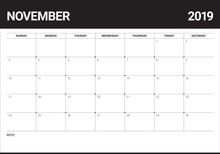 November 2019 Desk Calendar Ve...