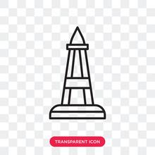 Obelisk Vector Icon Isolated On Transparent Background, Obelisk Logo Design