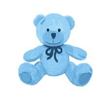 Cute Little Blue Teddy Bear With Patch