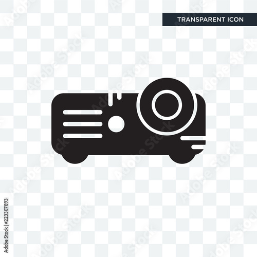 Fototapety, obrazy: Projector vector icon isolated on transparent background, Projector logo design