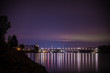 Nibelungenbrücke bei Nacht