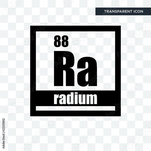 radium vector icon isolated on transparent background, radium logo design Canvas Print