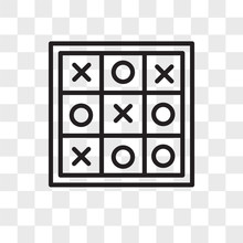 Tic Tac Toe Vector Icon Isolat...