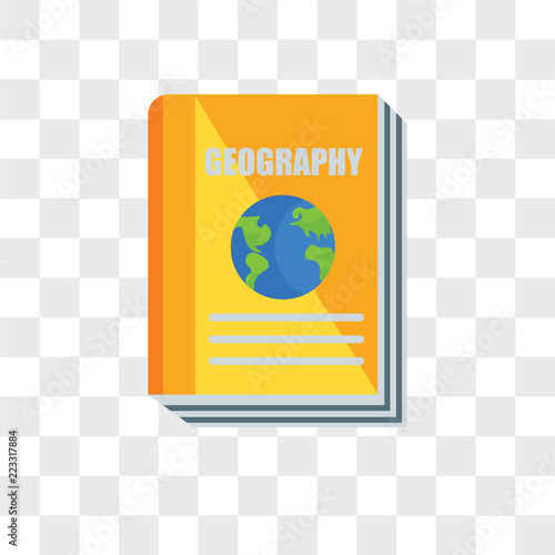 Fotografia  Geography vector icon isolated on transparent background, Geography logo design