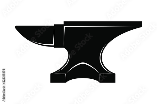 Fototapeta  Icon anvil for blacksmith