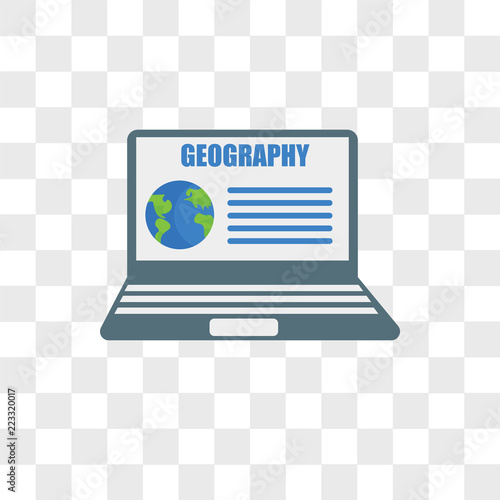 Fotografie, Obraz  Geography vector icon isolated on transparent background, Geography logo design