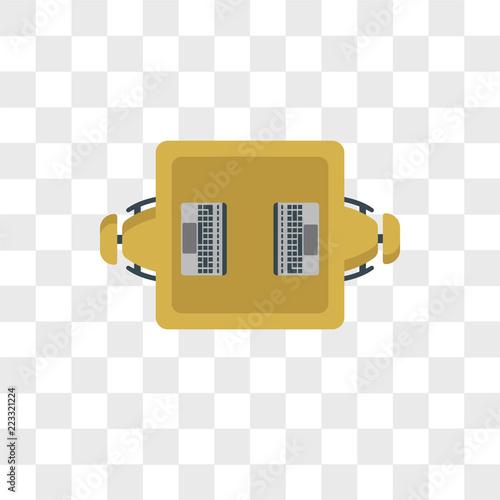Fotografia, Obraz  Work table vector icon isolated on transparent background, Work table logo desig