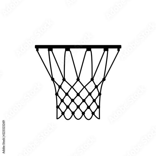 Basketball ring icon, silhouette, logo on white background - fototapety na wymiar