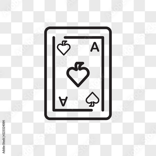 Photo  Ace of spades vector icon isolated on transparent background, Ace of spades logo