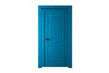 Modern Blue Room Door Isolated...