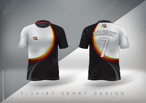 Valokuva  Soccer sport t-shirt design slim-fitting with round neck