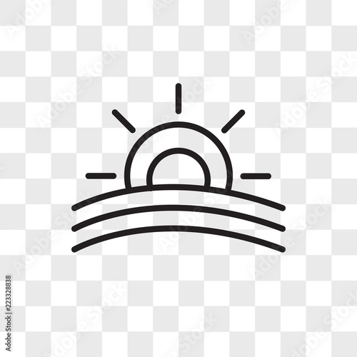 sunset vector icon isolated on transparent background sunset logo design buy this stock vector and explore similar vectors at adobe stock adobe stock sunset vector icon isolated on