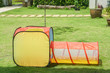 plastic net tube kid toy at outdoor playground