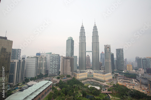 Photo Stands Kuala Lumpur asia city with traffic