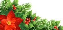 Christmas Poinsettia Flower Re...