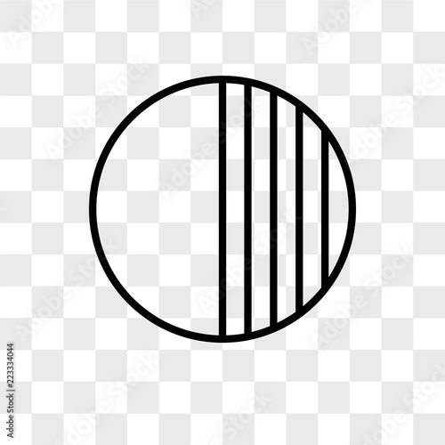 Fotografie, Obraz  Opacity vector icon isolated on transparent background, Opacity logo design