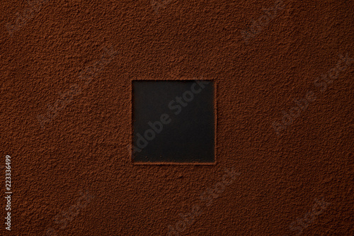 top view of gourmet cocoa powder with square copy space on black background Canvas Print